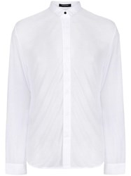 Unconditional Micro Collar Shirt White