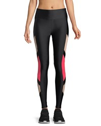 Lanston Carver Side Block Performance Leggings Black Pattern