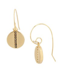 Kenneth Cole Pave Disc Drop Earrings Gold