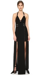 Versus Sleeveless Gown Black