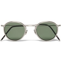 Eyevan 7285 Round Frame Metal Sunglasses Gray
