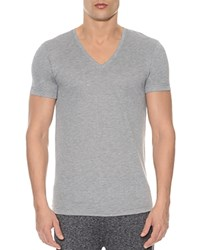 2Xist 2 X Ist Mesh V Neck Shirt Heather Gray