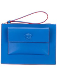 Versace Small Flap Pouch Blue
