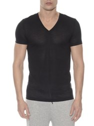 2Xist Mesh V Neck Tee Black