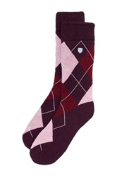 Barbour Durham Argyle Sock Purple
