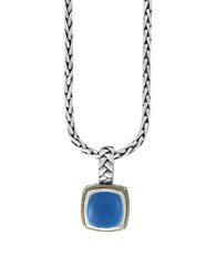 Effy Chalcedony 18K Goldplated And Sterling Silver Pendant Necklace