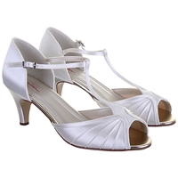 Rainbow Club Katy Kitten Heel Sandals Ivory