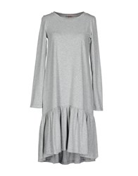 Rose' A Pois Knee Length Dresses Grey