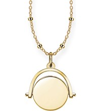 Thomas Sabo 18Ct Yellow Gold Spinning Coin Engravable Necklace