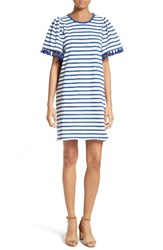 Kate Spade Women's New York Stripe Flutter Sleeve Dress