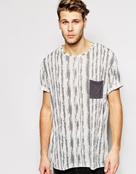 Another Influence T Shirt Longline Printed Grey