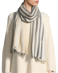 Emporio Armani Striped Two Tone Scarf Pink