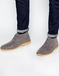 New Look Lace Up Desert Boots Grey