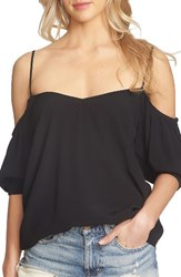 1.State Women's Balloon Sleeve Off The Shoulder Top Rich Black