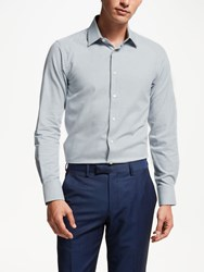 Smyth And Gibson Textured Melange Contemporary Fit Shirt Grey