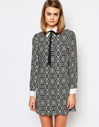 Reclaimed Vintage X Liquid Lunch Shift Dress With Collar Detail Multi