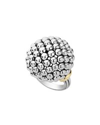 Lagos Caviar Forever Large Dome Ring Silver Gold