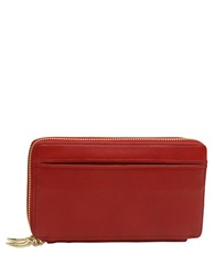 Tusk Donnington Double Zip Clutch Wallet Red