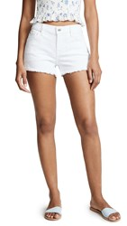 7 For All Mankind Cutoff Shorts Clean White