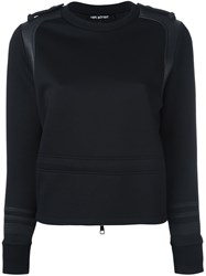 Neil Barrett Leather Details Sweatshirt Black