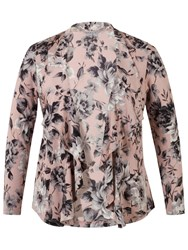 Chesca Rose Print Shrug Powder Pink