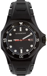 Givenchy Black Matte Five Shark Watch