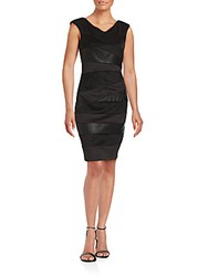 Jax V Neck Sheath Dress Black