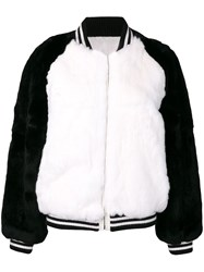 Liska Fur Bomber Jacket Black