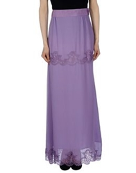 Philosophy Di Alberta Ferretti Long Skirts Lilac
