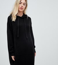 Micha Lounge Relaxed Hooded Jumper Dress Black
