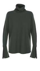 Tibi Mock Rib Turtleneck Sweater