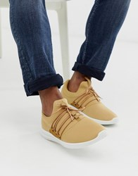 New Look Stone Lace Up Runner Trainers