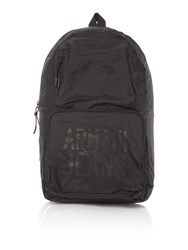 Armani Jeans Ripstop Foldaway Backpack Black