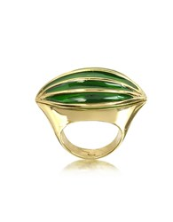 Bernard Delettrez Bronze Poison Ring W Eye Gold