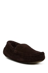 Gold Toe Fleece Lined Slip On Loafer Slipper Brown