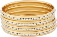 Fallon Infinity Channel Bangles Colorless