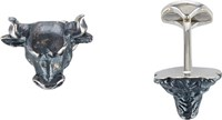 Deakin And Francis Bull And Bear Cufflinks Silver