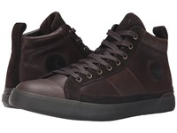 Polo Ralph Lauren Clarke Dark Brown Smooth Oil Leather Sport Suede Men's Lace Up Casual Shoes