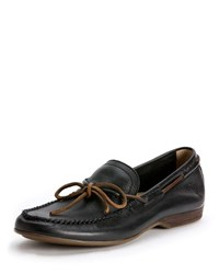 Frye Lewis Leather Tie Loafer Chocolate