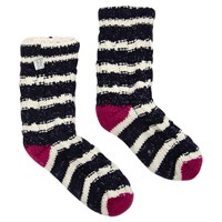Joules Toasty Cable Knit Socks Navy
