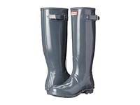 Hunter Original Gloss Graphite 1 Women's Rain Boots Gray