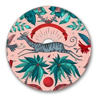 Emma J Shipley Zambia Coaster Set Of 4 Pink