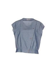 Soho De Luxe Denim Denim Shirts Women Blue