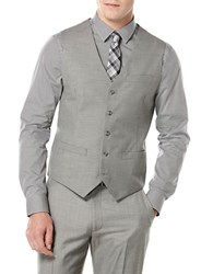 Perry Ellis Solid Suit Vest Nickel