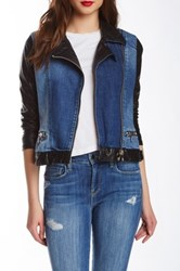 Genetic Denim Irina Denim Moto Jacket Blue