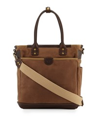 Will Leather Goods Ramona Falls Canvas Tote Bag Brown