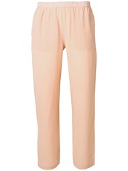Semicouture Elasticated Cropped Trousers Neutrals