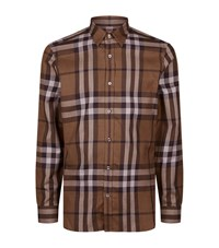 Burberry Crawfords House Check Shirt Male Brown