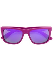 Ray Ban Justin Sunglasses Unisex Rubber 54 Pink Purple