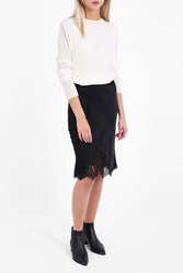 Helmut Lang Women S Double Satin Skirt Boutique1 Black